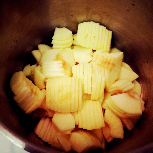 Sliced apples in the pot by My Life as a Trophy Wife